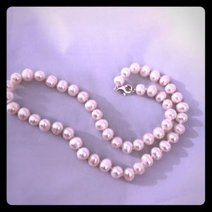 """Auth. New White Freshwater Pearl 8MM 16"""" Necklace"""